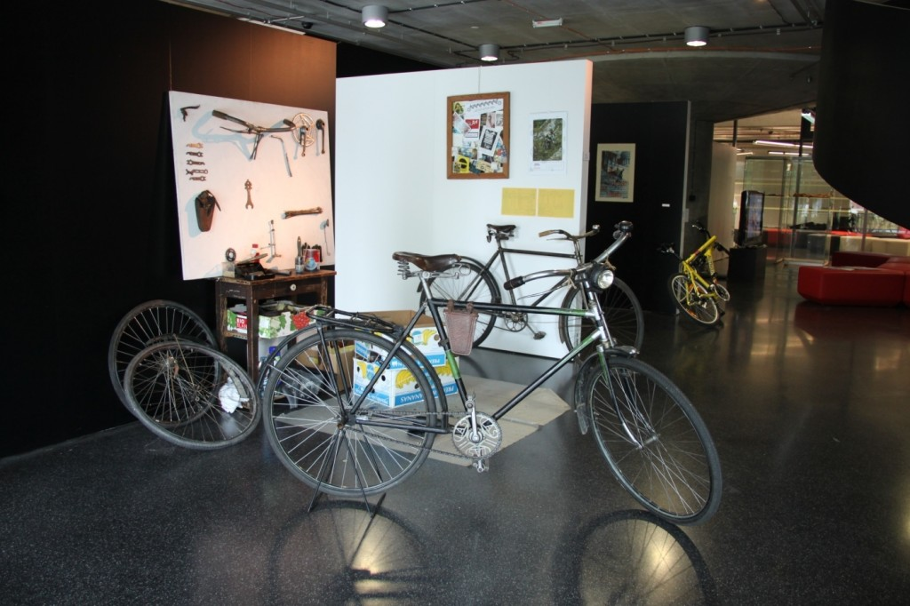 Jakub Valášek, Velocipedist´s Workshop, Performance, Installation of Historical Bicycles, 2011